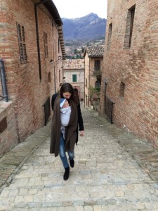 Sarnano, Marken Italië, Blaauw Tekst